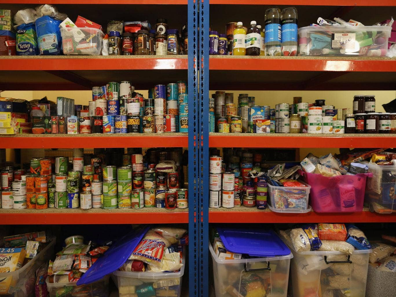 According to the Trussell Trust, the number of people who need food banks like this one has risen by 200 per cent