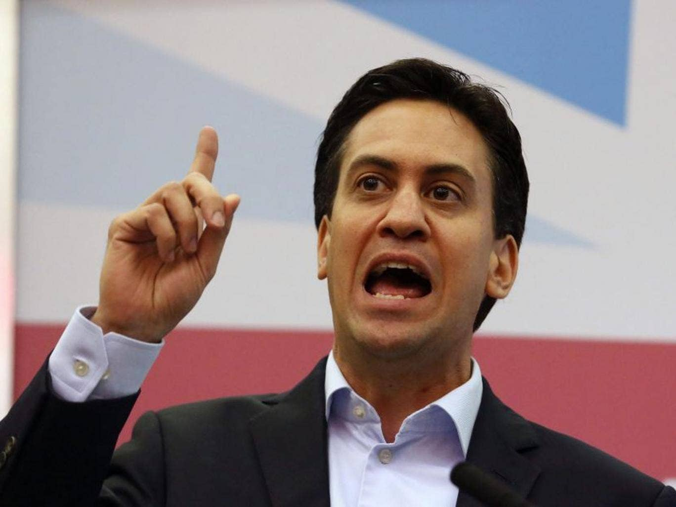 Labour leader Ed Miliband said his government would force companies that hire workers from outside the EU to take on the same number of UK apprentices