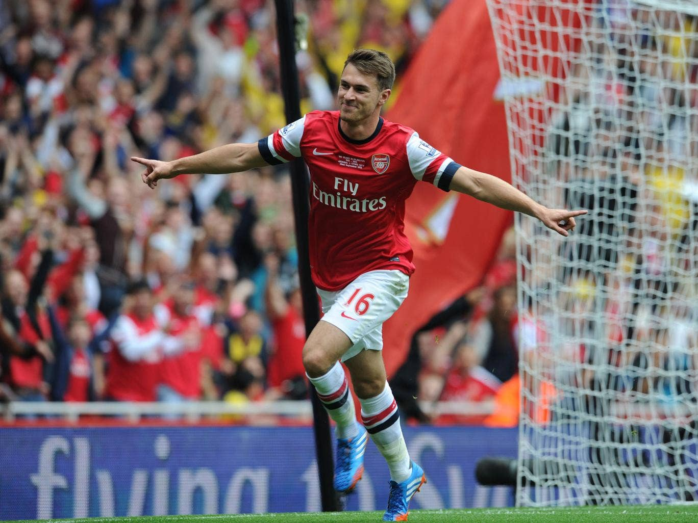 Aaron Ramsey scores yet again to help Arsenal to victory against Stoke