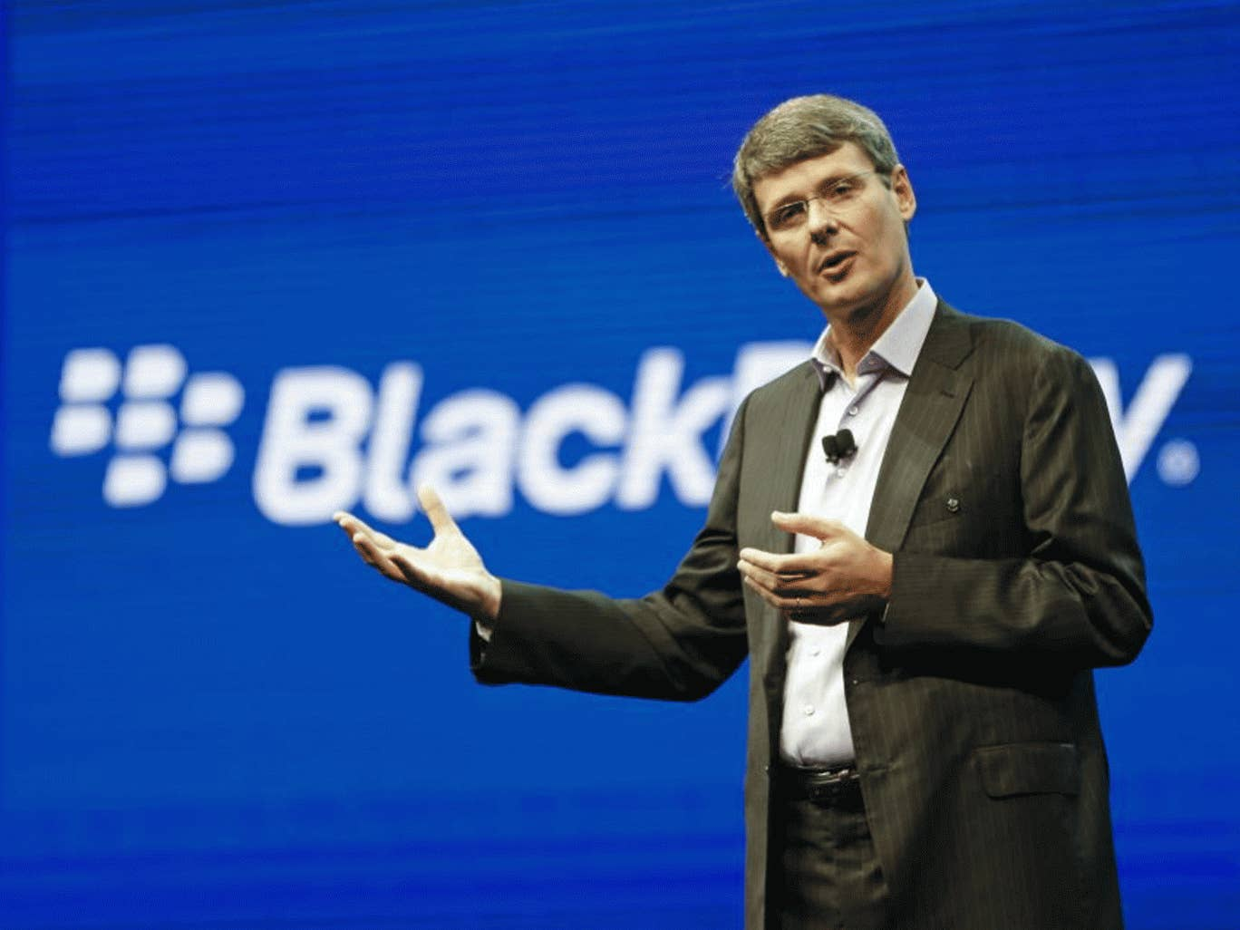 The leak of the Android version of BlackBerry's popular BBM chat software follows an announcement of 4,500 job cuts by the company's CEO Thorsten Heins (above)