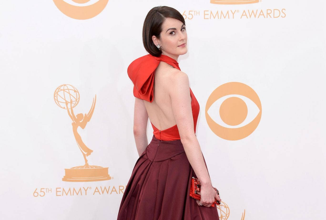 Michelle Dockery attends the 2013 Emmy Awards