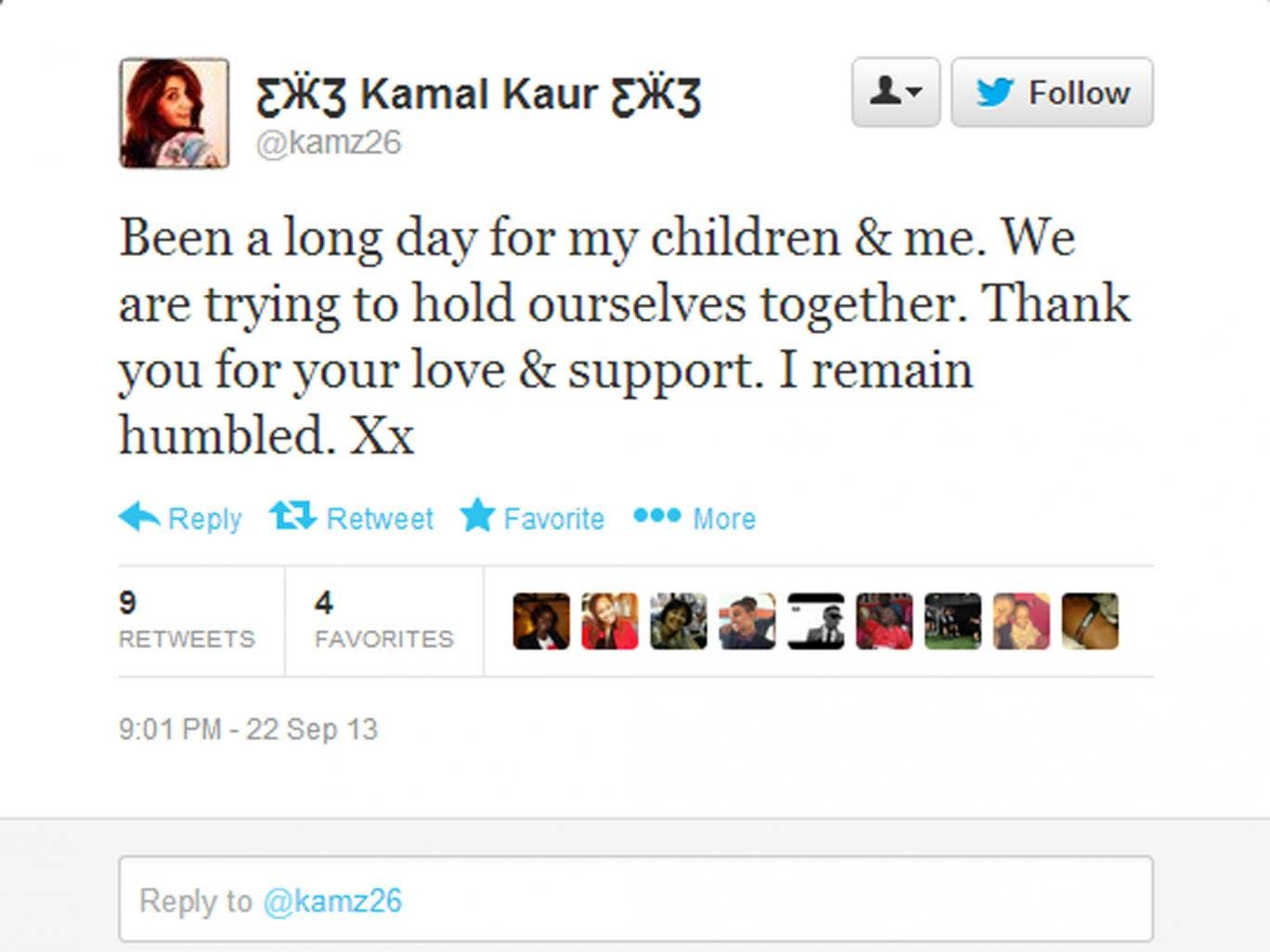 The Twitter feed of journalist Kamal Kaur records her ordeal in the Westgate terror attack