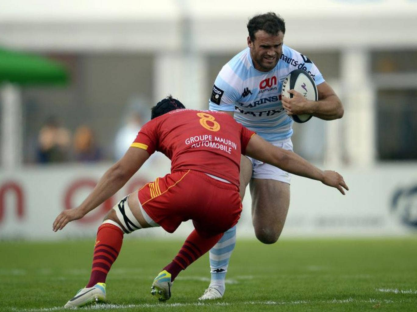 Jamie Roberts hurt his ankle while playing for Racing Metro