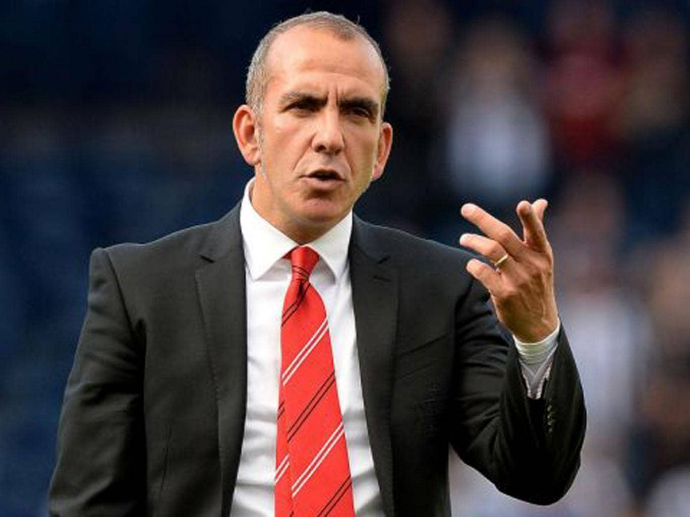 Paolo Di Canio clashed with his players after the defeat at West Bromwich Albion