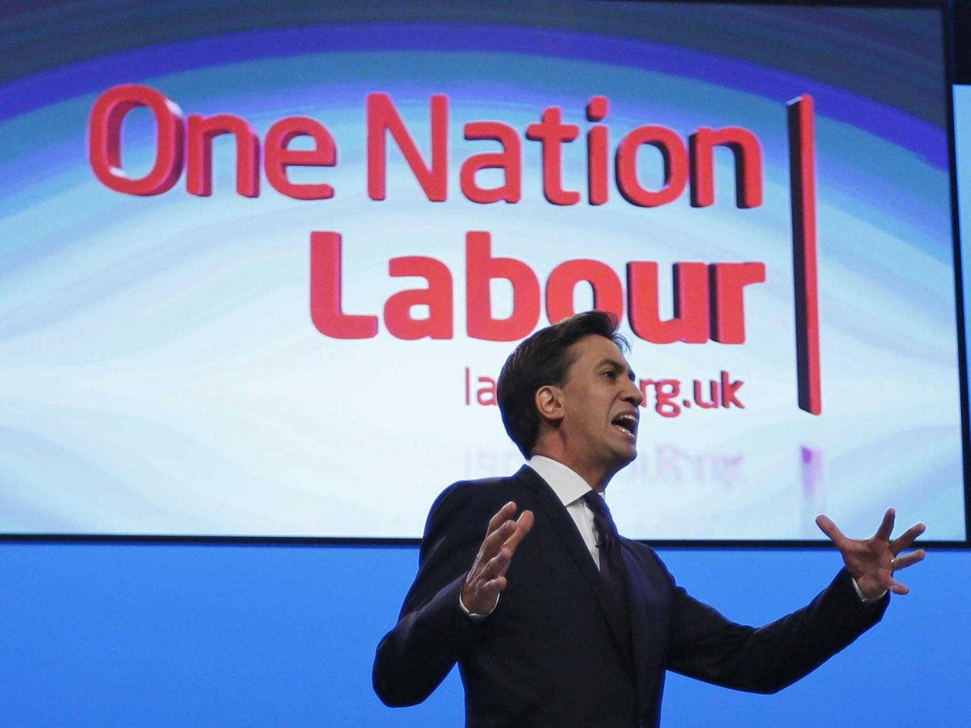 Ed Miliband delivers his speech