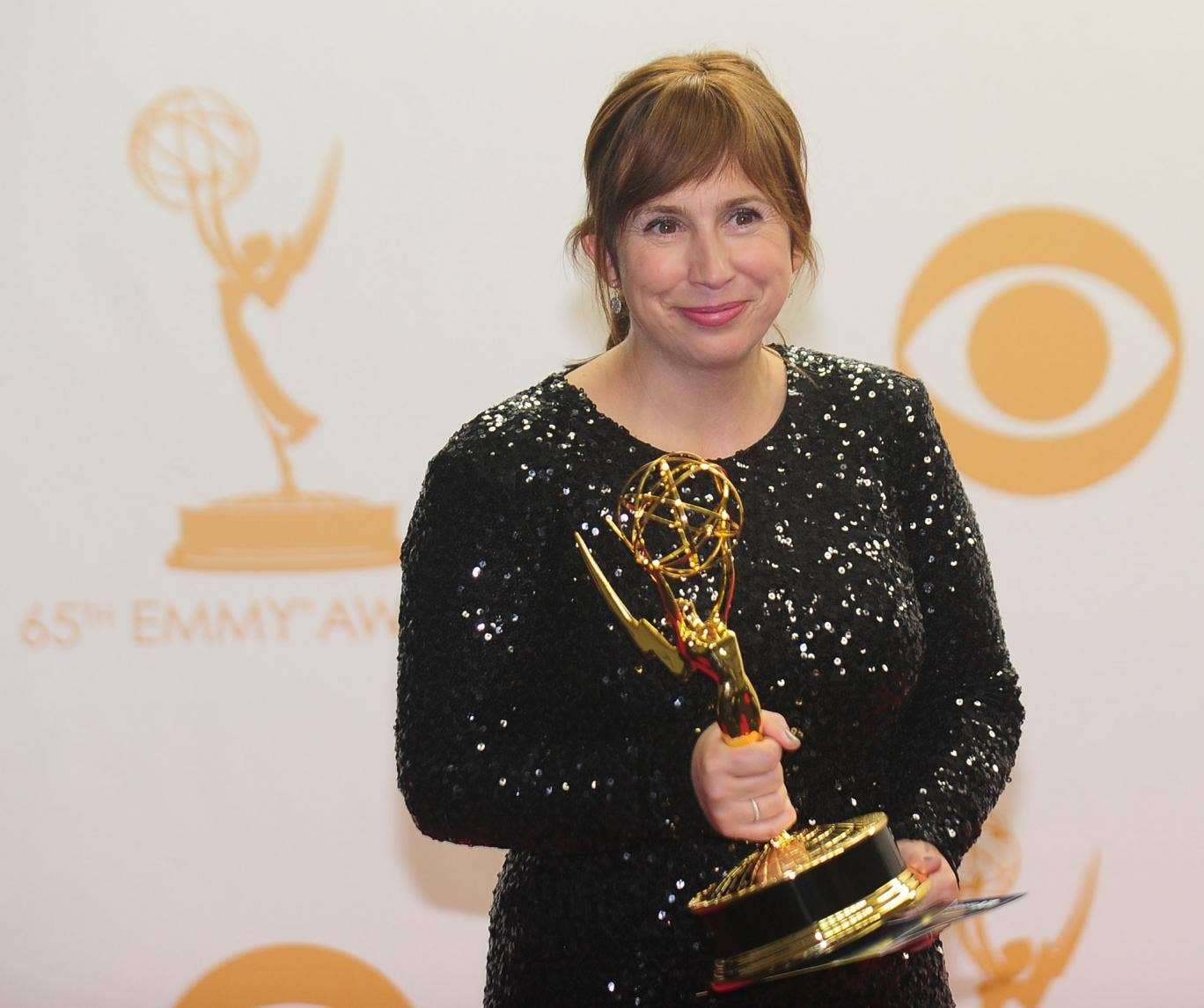 Abi Morgan clutches her Emmy award for writing BBC Two series The Hour