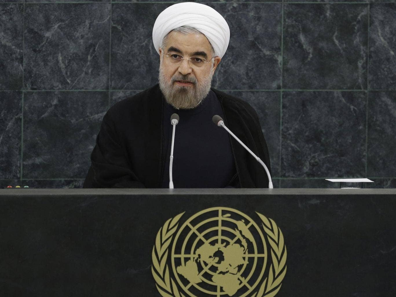 Iranian President, Hassan Rouhani, addresses the UN General Assembly in New York