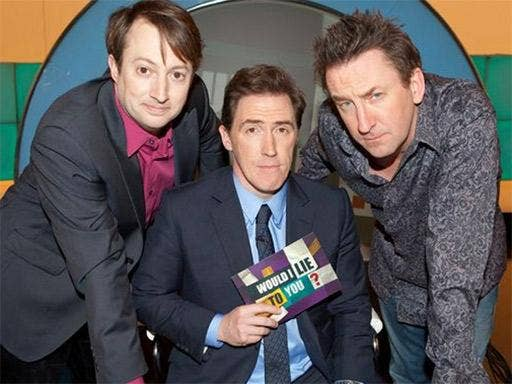 David Mitchell, left, is a team captain on 'Would I Lie To You?'