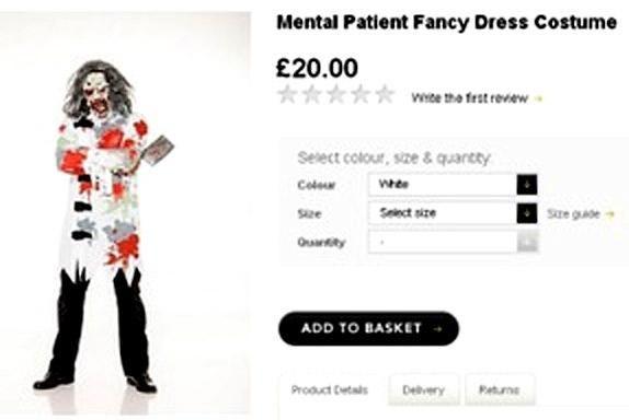 The costume has now been taken off Asda's website