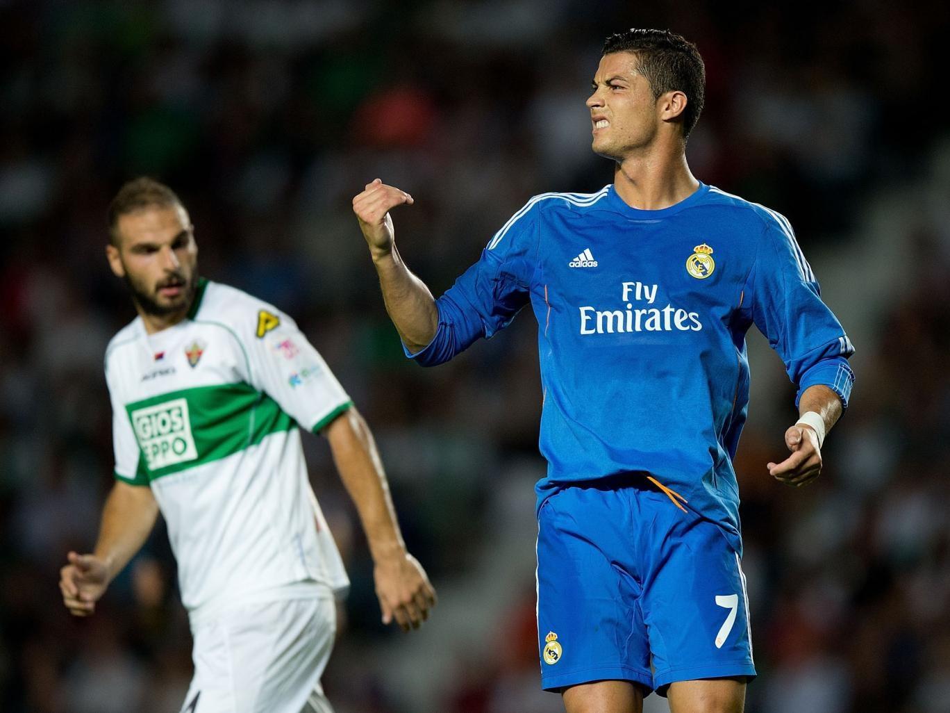 Cristiano Ronaldo pictured in the 2-1 win over Elche