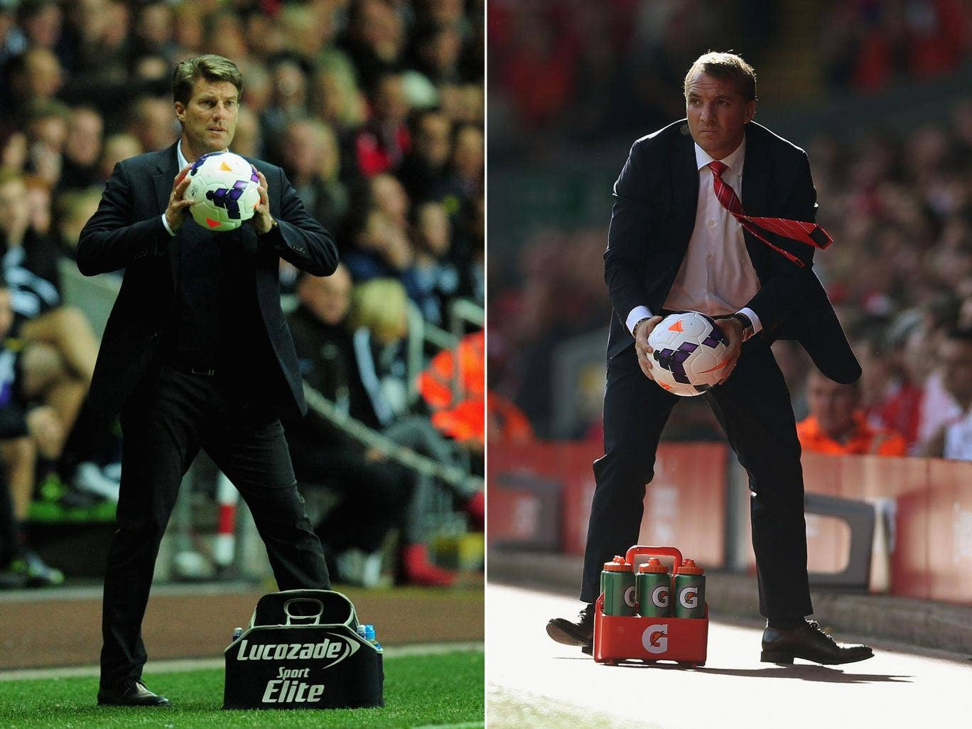 Michael Laudrup (left) and Brendan Rodgers have had very different playing careers