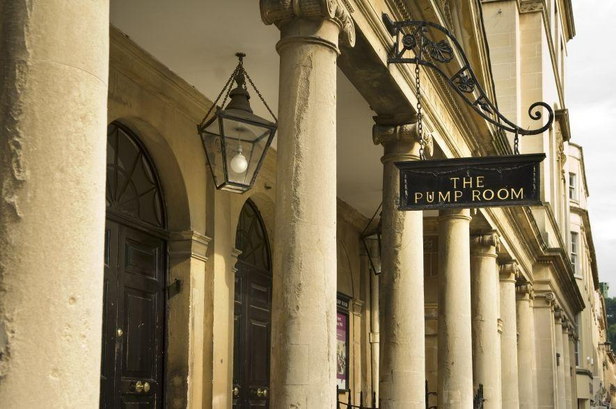 Bath time: The Pump Room in the historic centre of Bath
