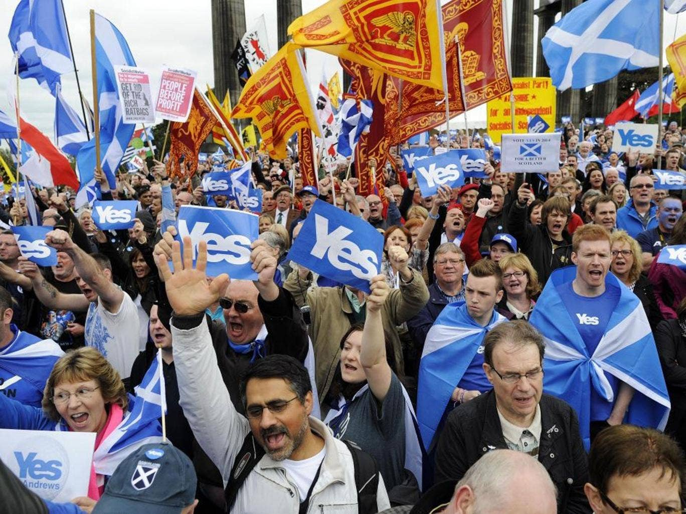 Pro-independence supporters have found a backing from business that the 'No' campaign lacks