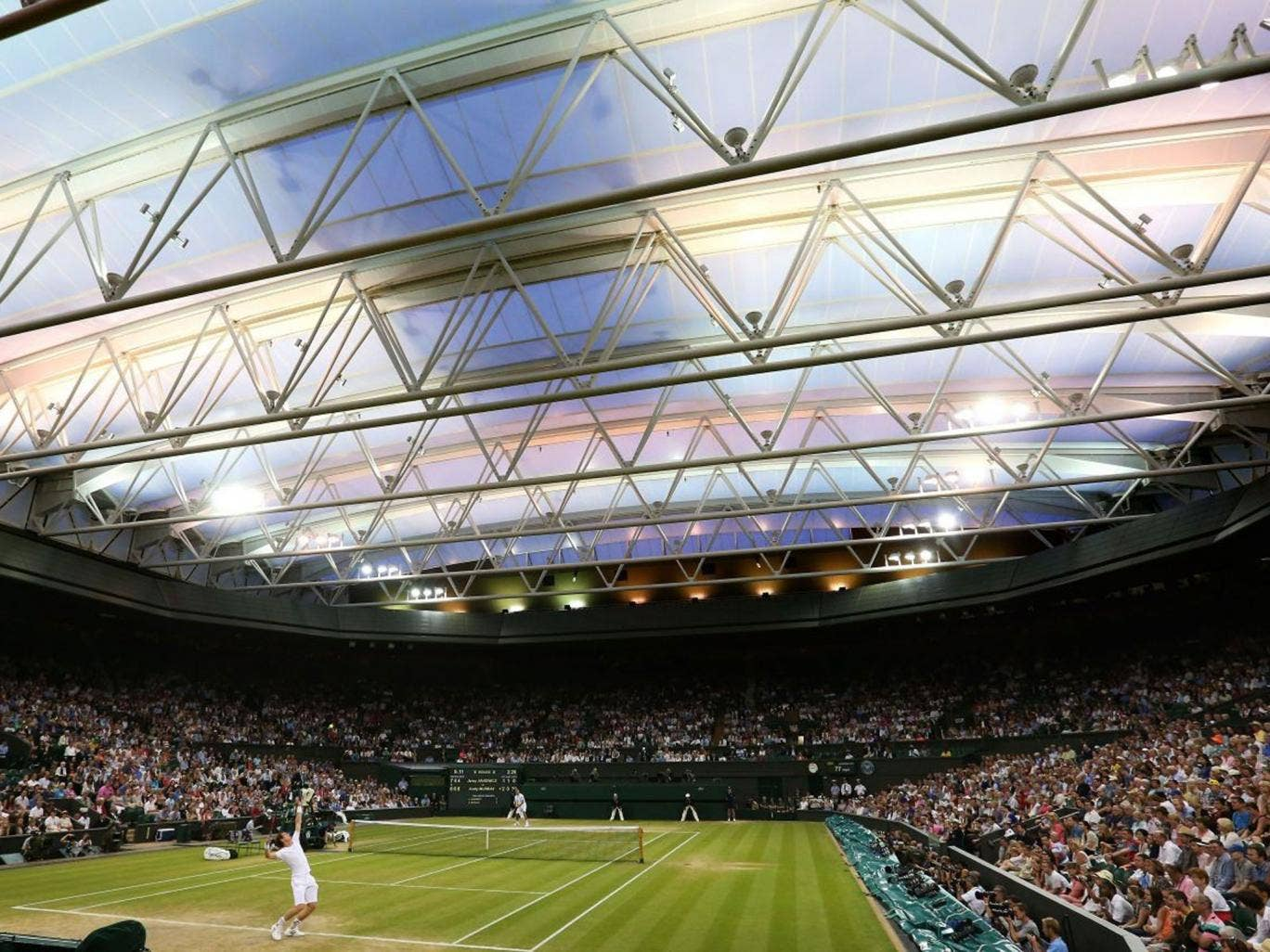 On the line: Tennis clubs fear a lack of funding may now squander the interest generated by Andy Murray's 2013 Wimbledon win