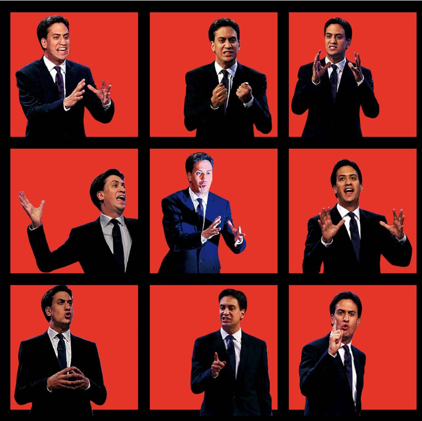 The many faces of Labour leader Ed Miliband