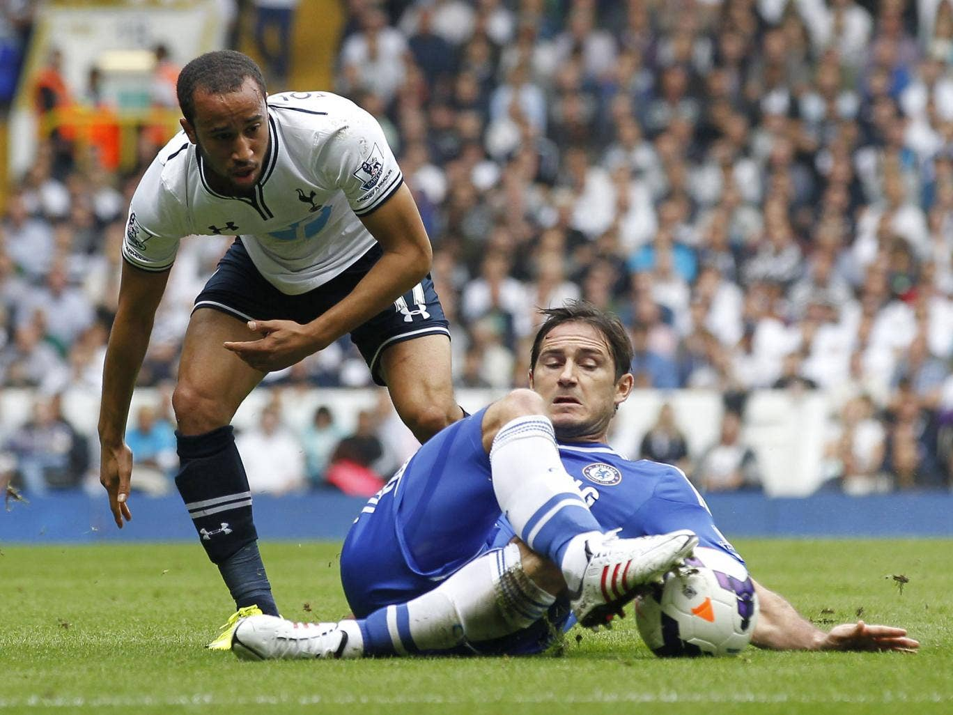 Andros Townsend has apologised for a deliberate dive in the London derby against Chelsea