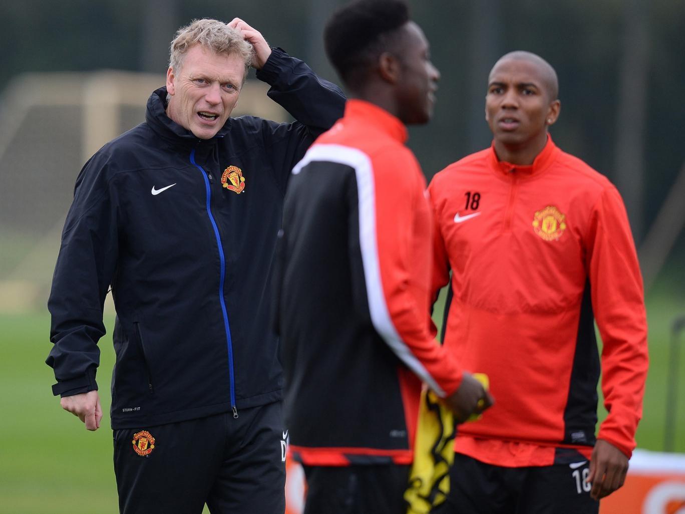 David Moyes take training with Manchester United