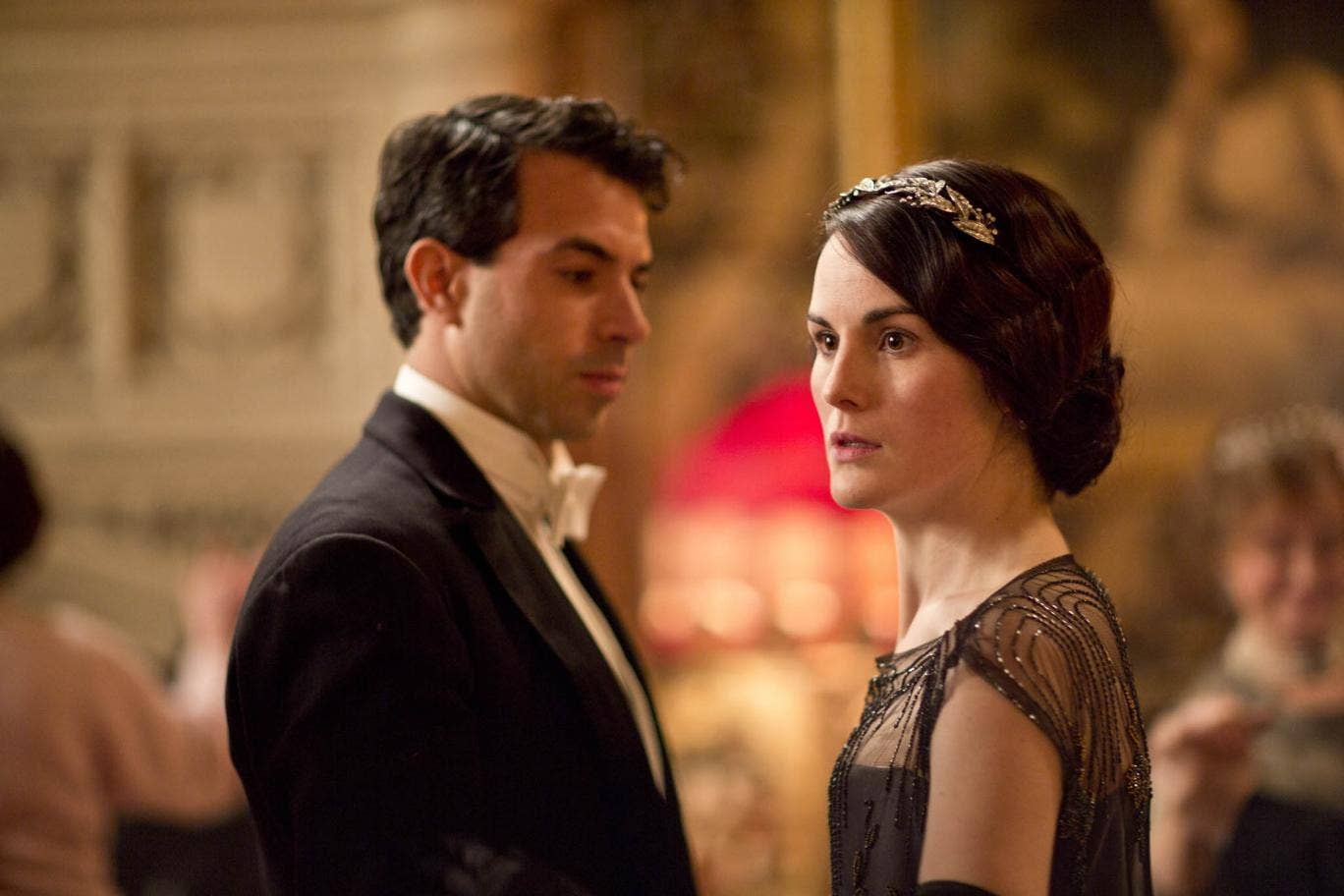 Lord Gillingham with Lady Mary in Downton Abbey episode three, series four