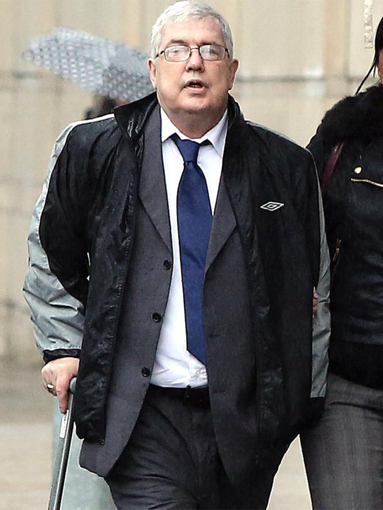 Liam Adams arrives at Belfast Crown Court