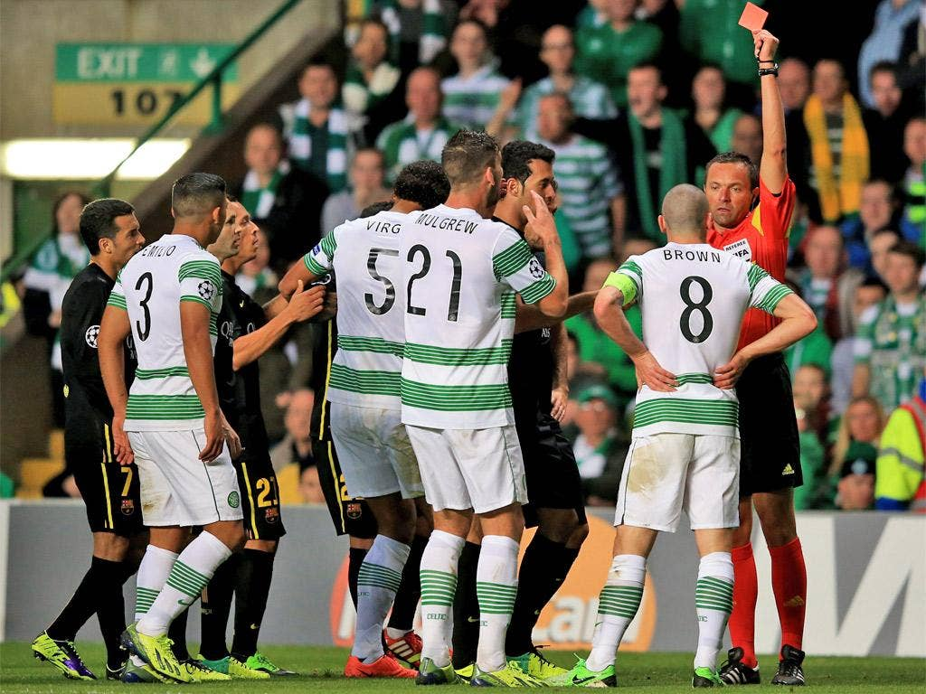 Scott Brown receives his marching orders
