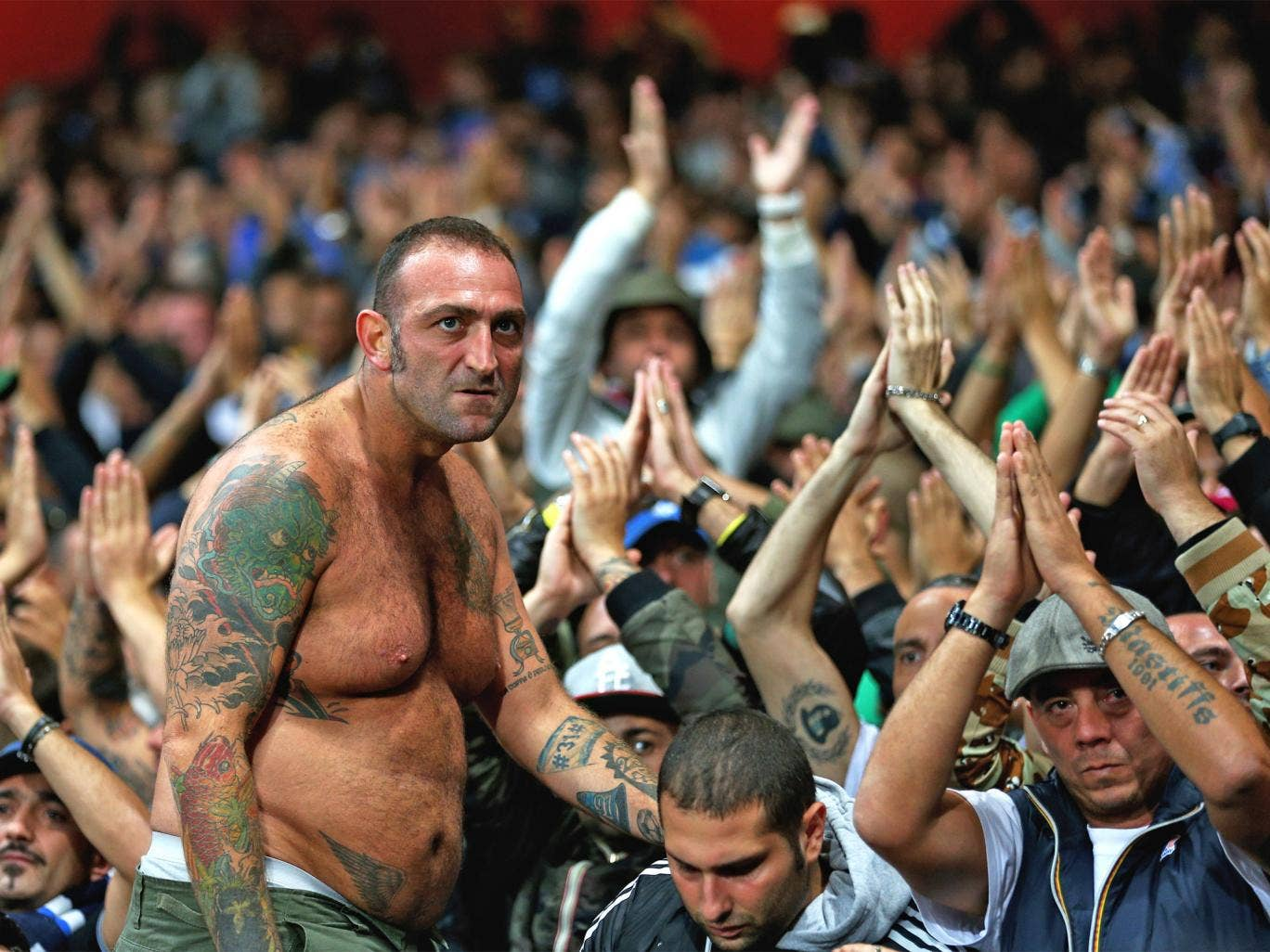 The Napoli fans came to the Emirates in high hopes