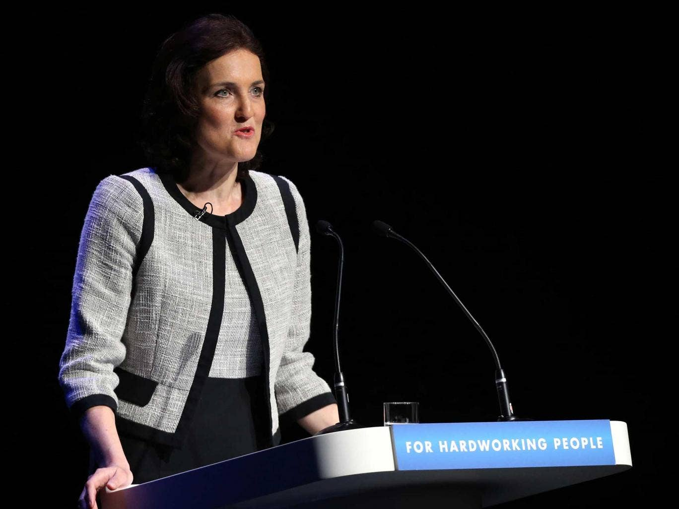 Northern Ireland Secretary Theresa Villiers speaks on the final day of the Conservative Party Conference