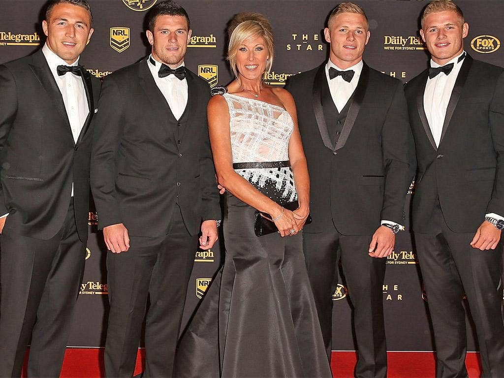 Julie with (from left) sons Sam, Luke, George and Thomas