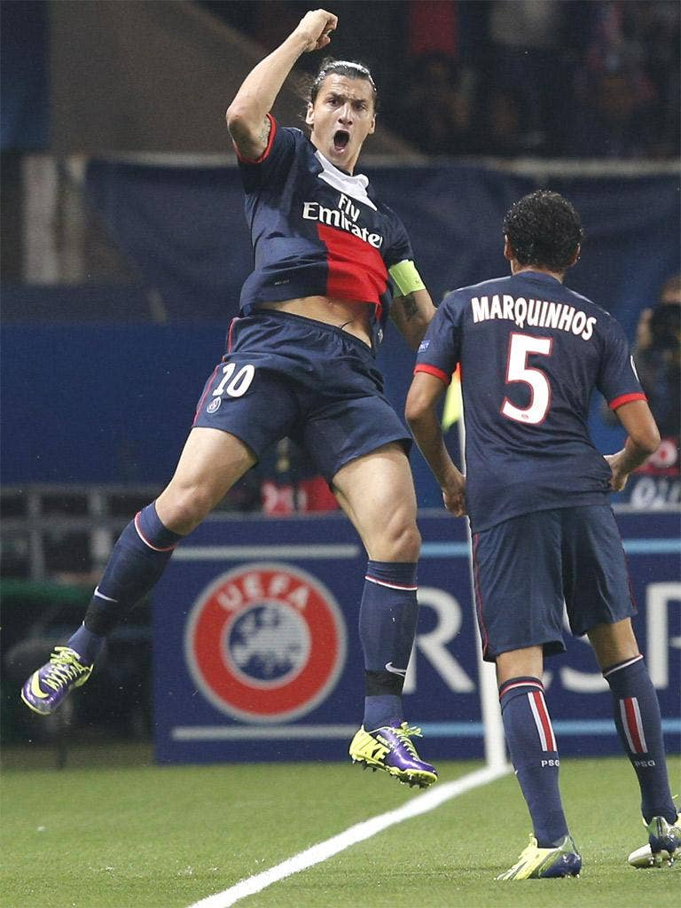 Zlatan Ibrahimovic scored twice as PSG beat Benfica