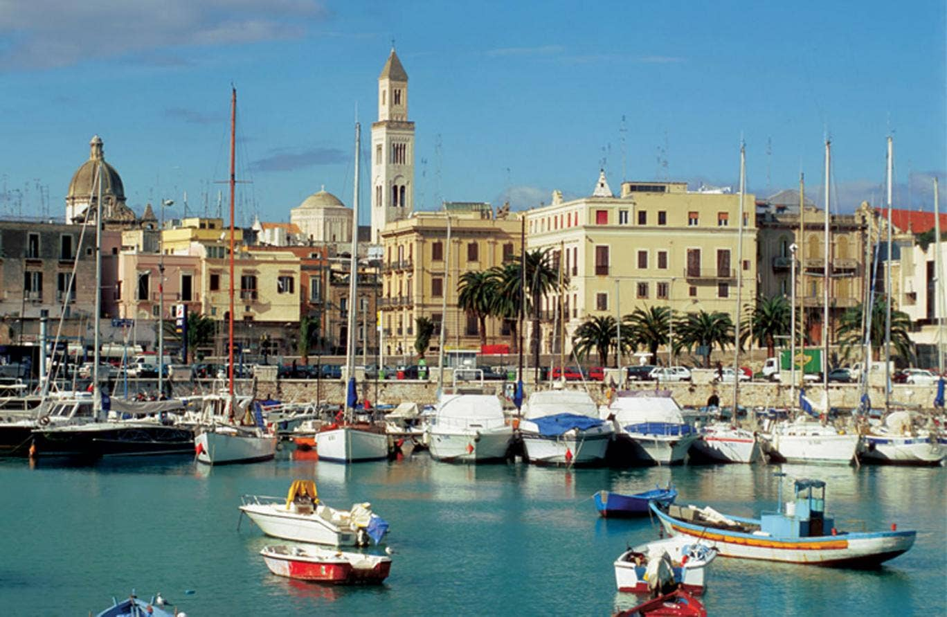 Haunted by guilt: historic centre of Bari in Puglia, Italy