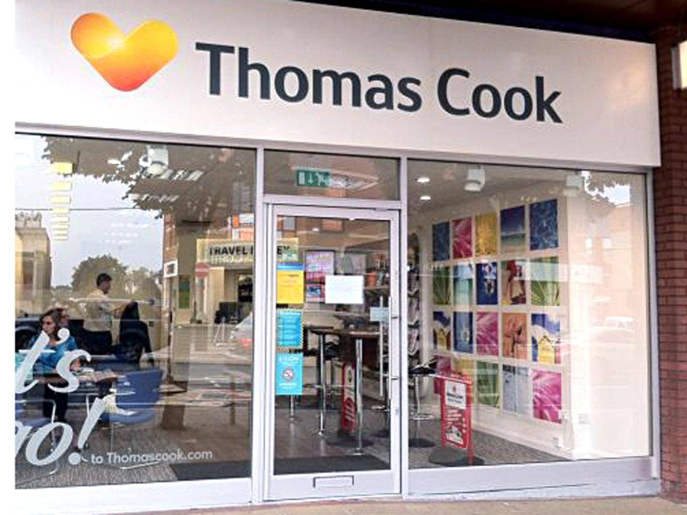 Brand new: Thomas Cook's logo on a high street store
