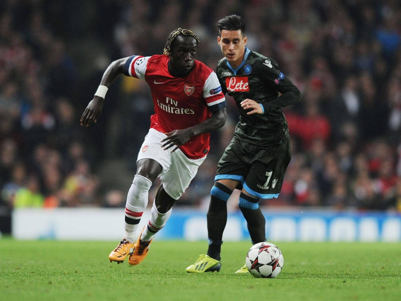 Bacary Sagna has been ruled out for three weeks with a hamstring injury
