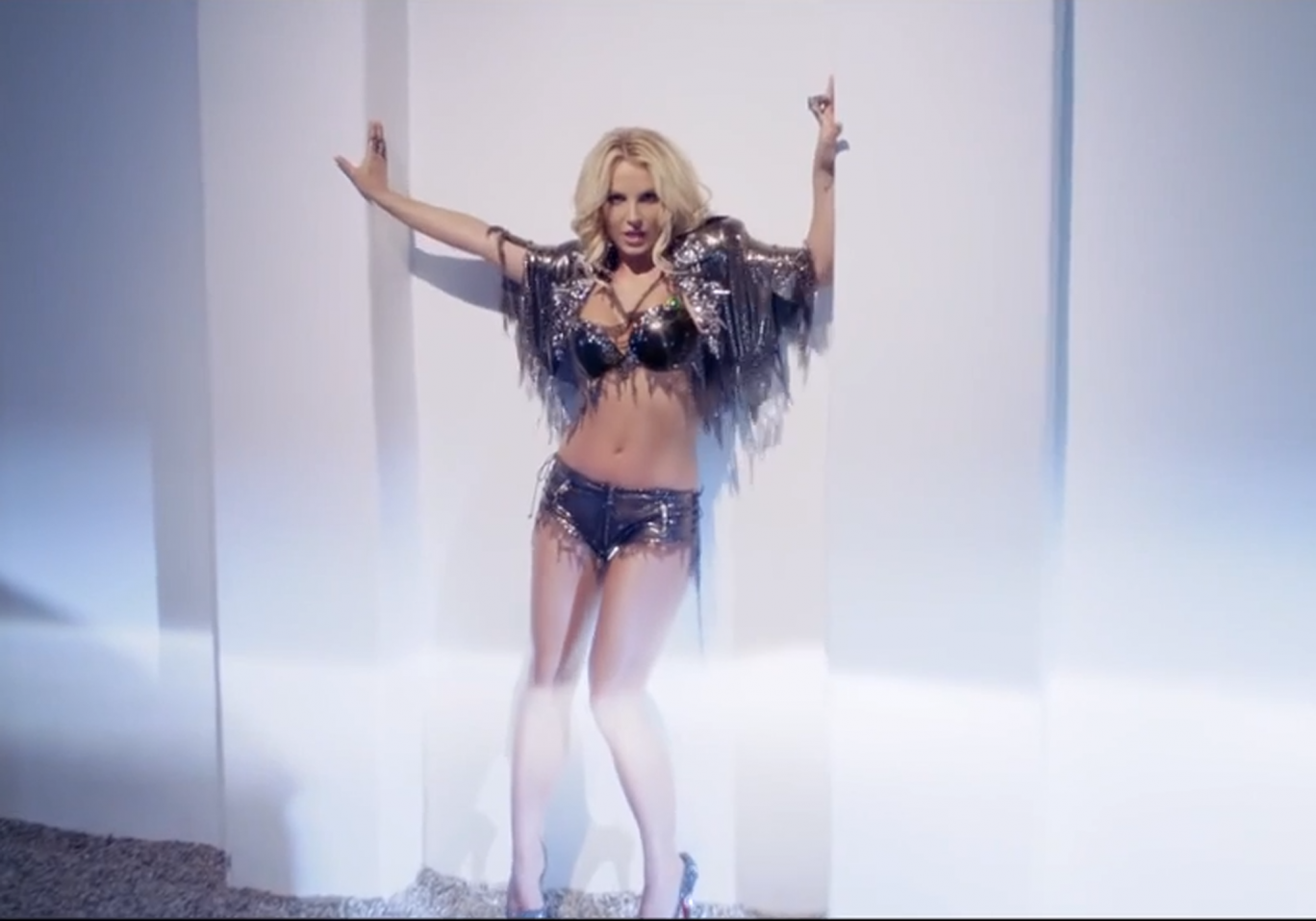 Britney Spears in her last video for 'Work B***c'