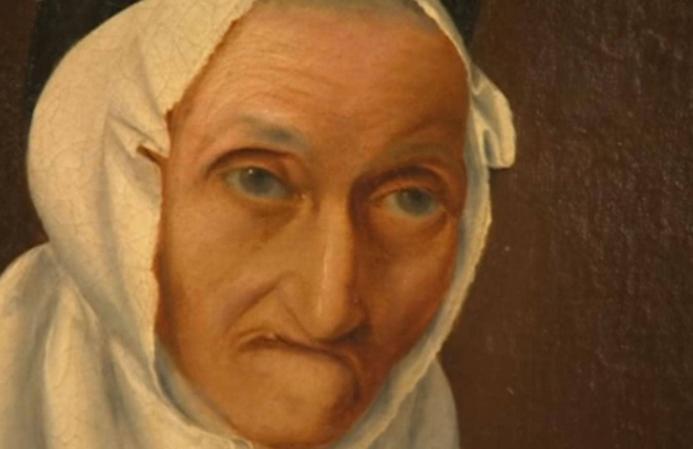 """An elderly Winchester couple have been left baffled after 300-year-old portrait of a """"ugly"""" woman in a white headscarf was posted to them with no explanation."""