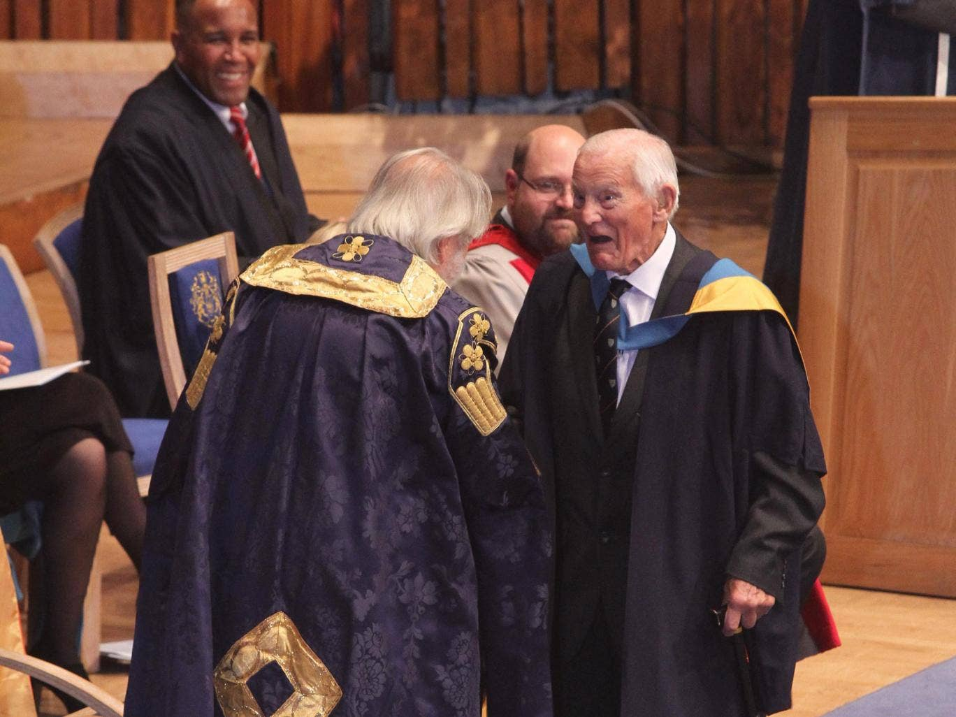 Mr Dadson has become the UK's oldest graduate