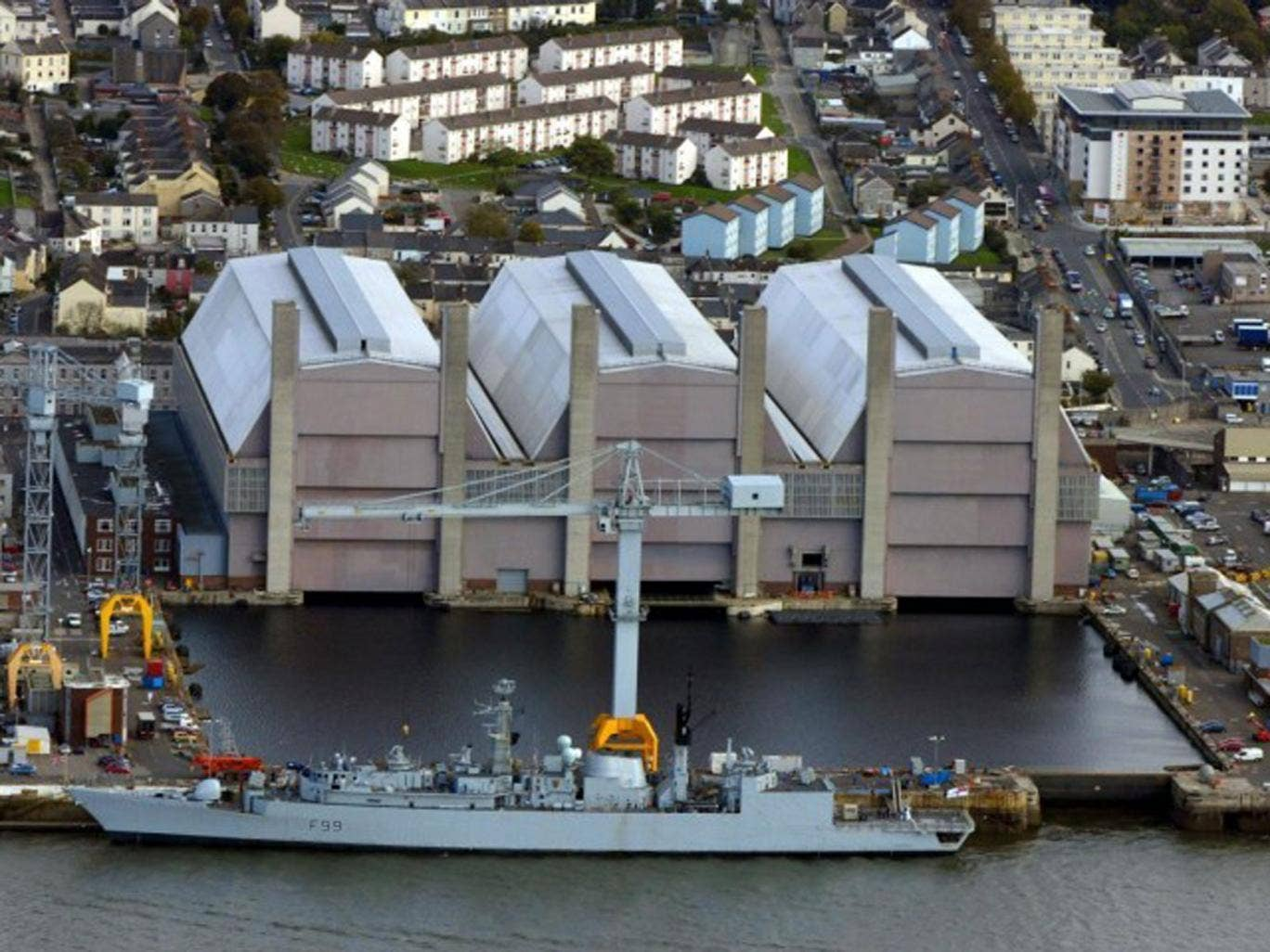 Devonport dockyard, Plymouth, repairs and refuels Royal Navy nuclear submarines