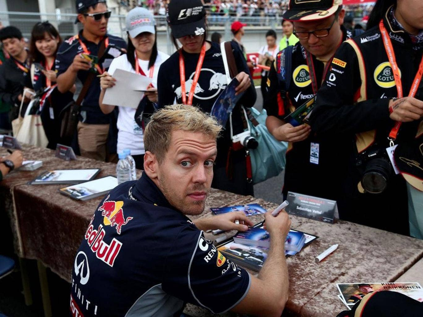 Sign of the times: Sebastian Vettel is an unpopular world champion