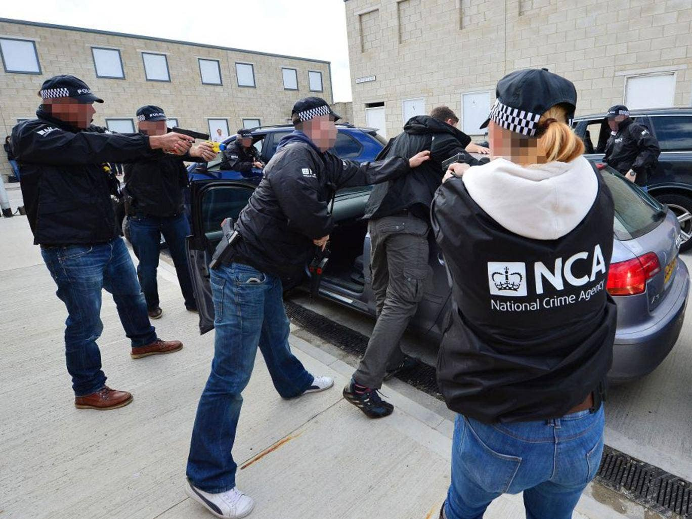 Officers of the new National Crime Agency participating in a training exercise