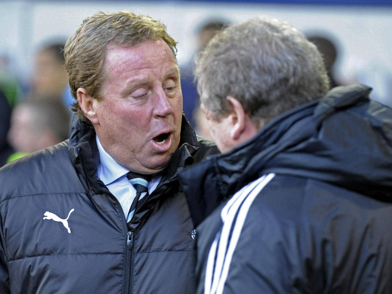 Harry Redknapp has said that Roy Hodgson's face was a better fit for the FA