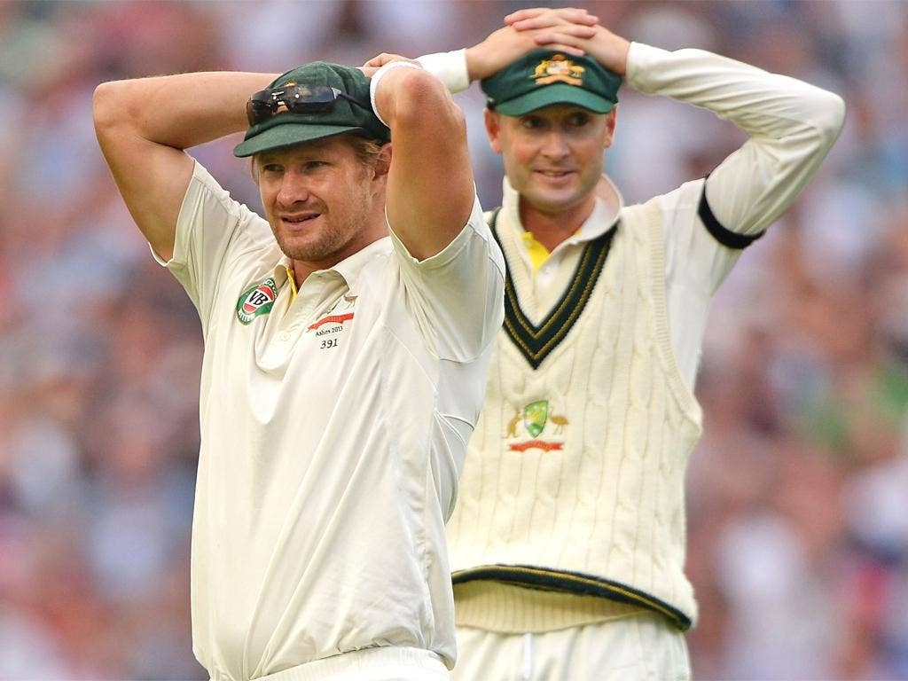 Shane Watson (left) will be an important figure for Australia in the absence of Michael Clarke