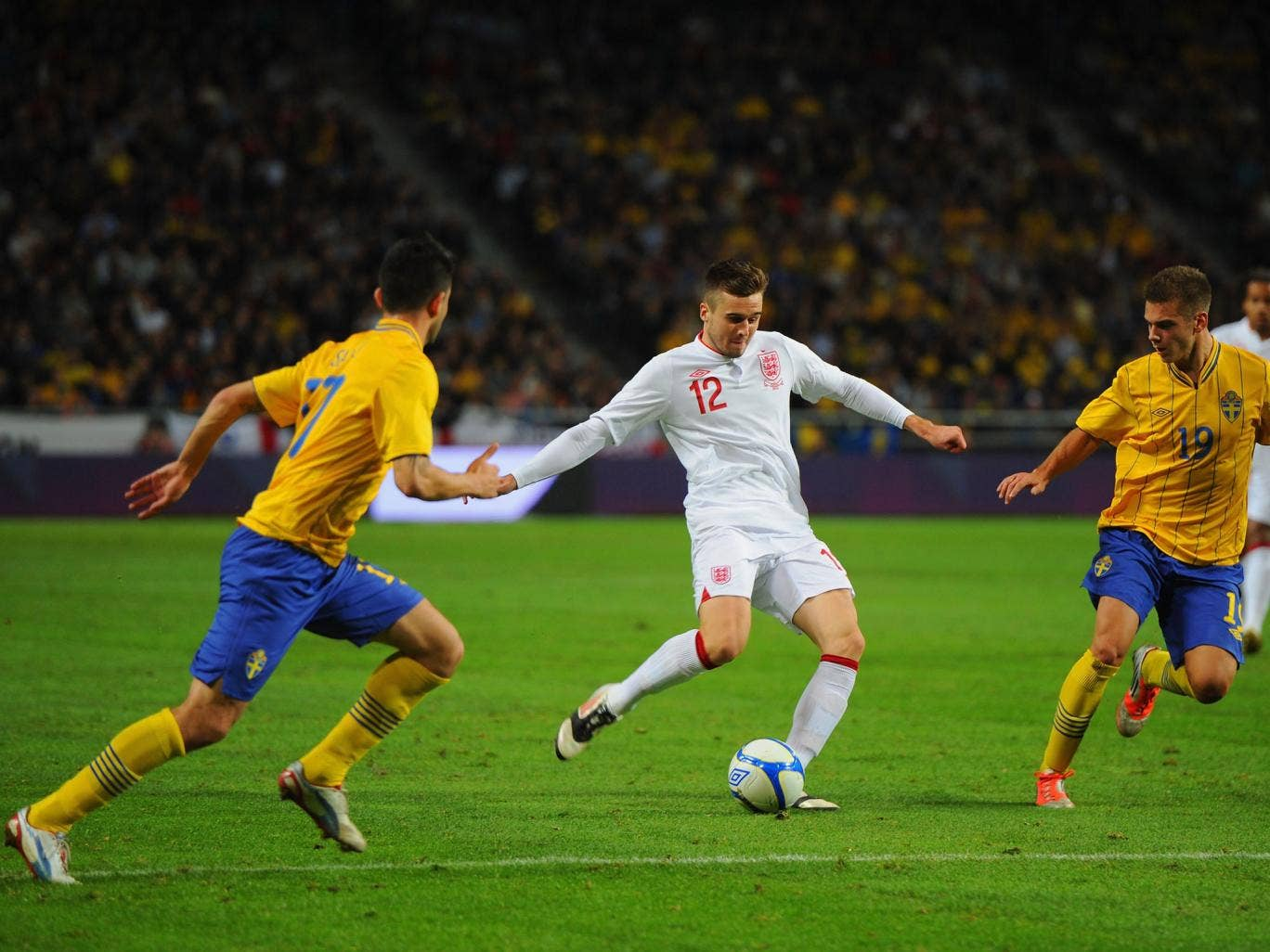 Carl Jenkinson made his debut for England in the international friendly against Sweden in November 2012