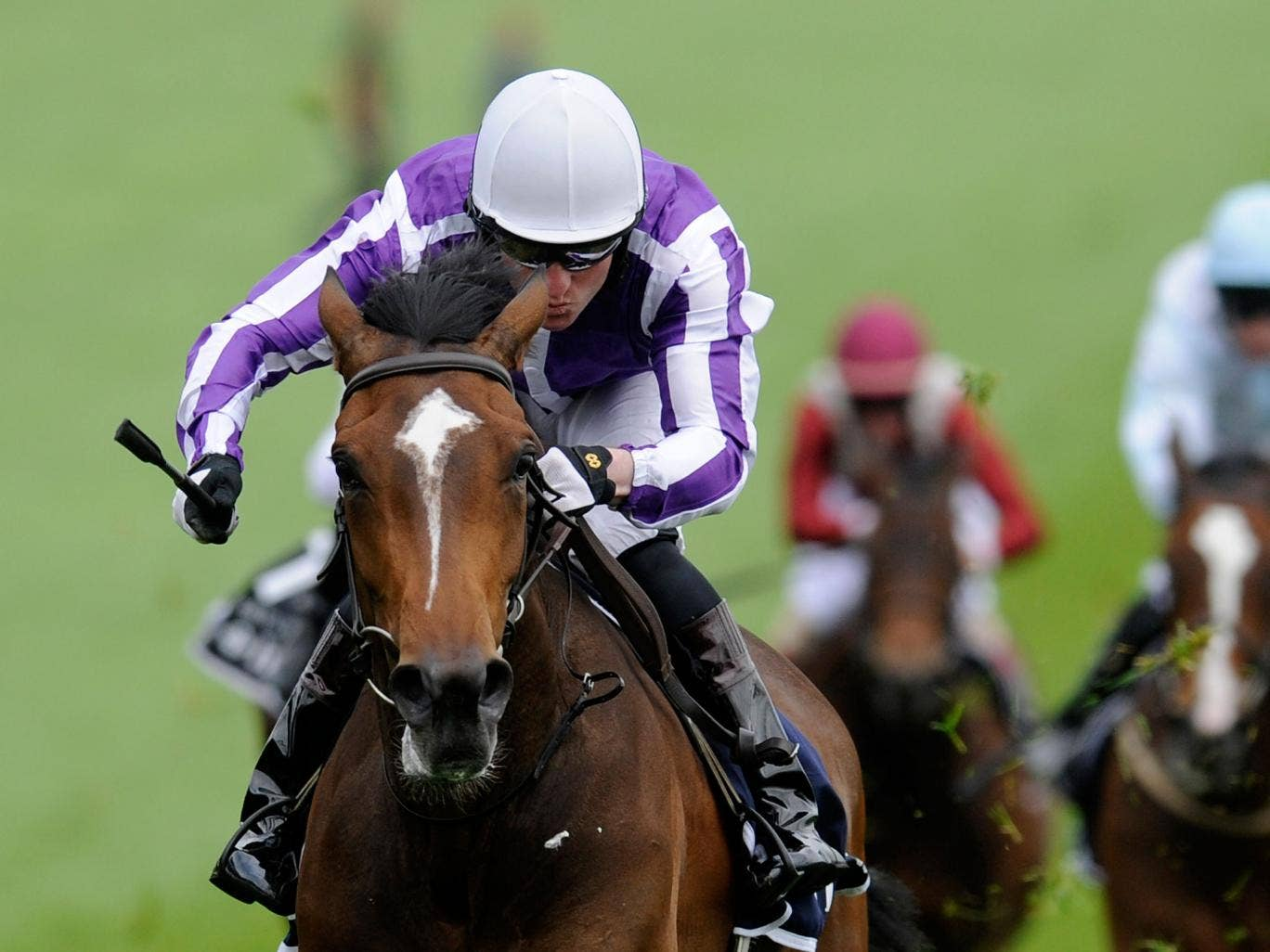 Seamie Heffernan riding Was to victory in the 2012 Investec Oaks