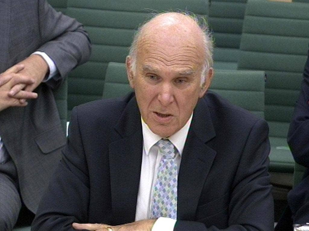 Business Secretary Vince Cable opposes David Cameron's energy tax review