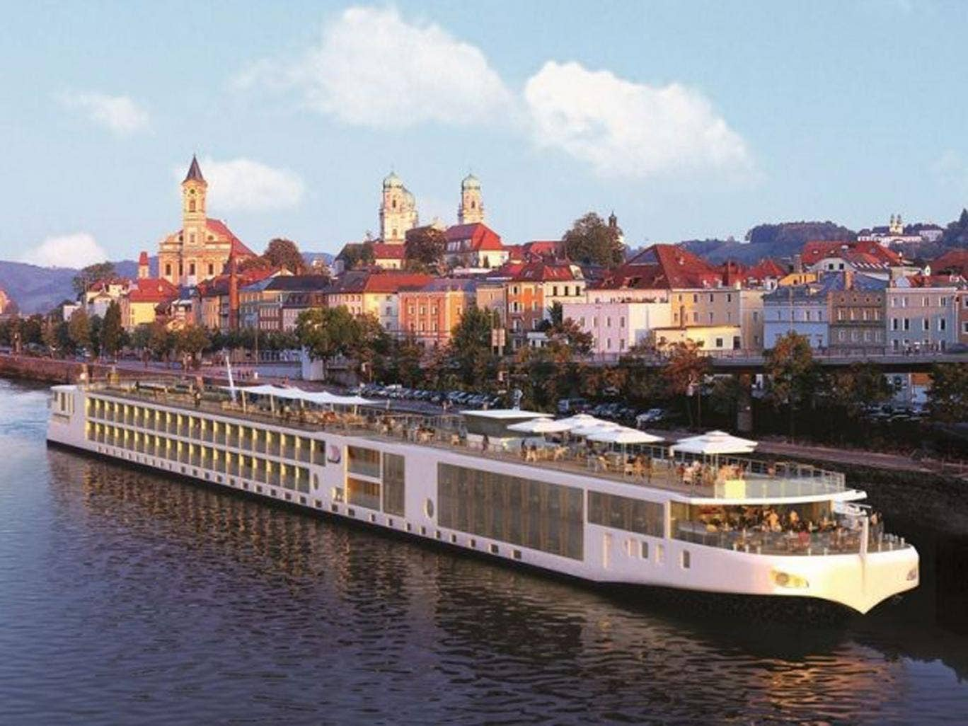 Ripple effect: A Viking River Cruises vessel on the Danube