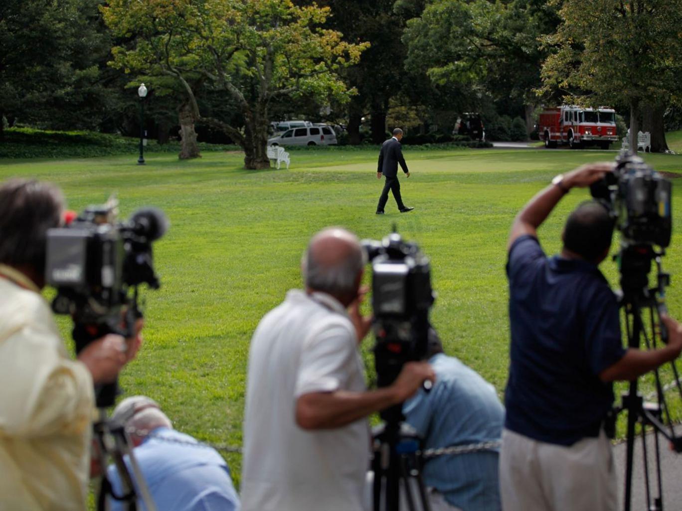 Free press? Cameras follow Barack Obama at the White House