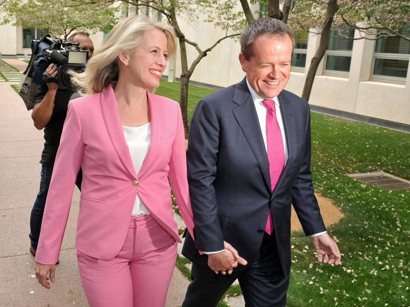 Bill Shorten and his wife, Chloe, after the election