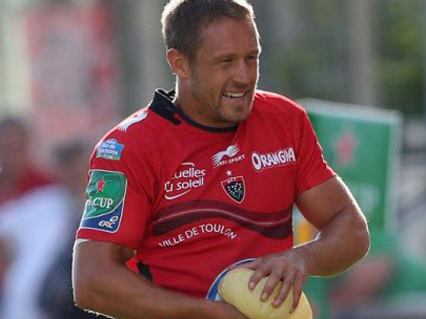Toulon's Jonny Wilkinson was forced off with an injured hand