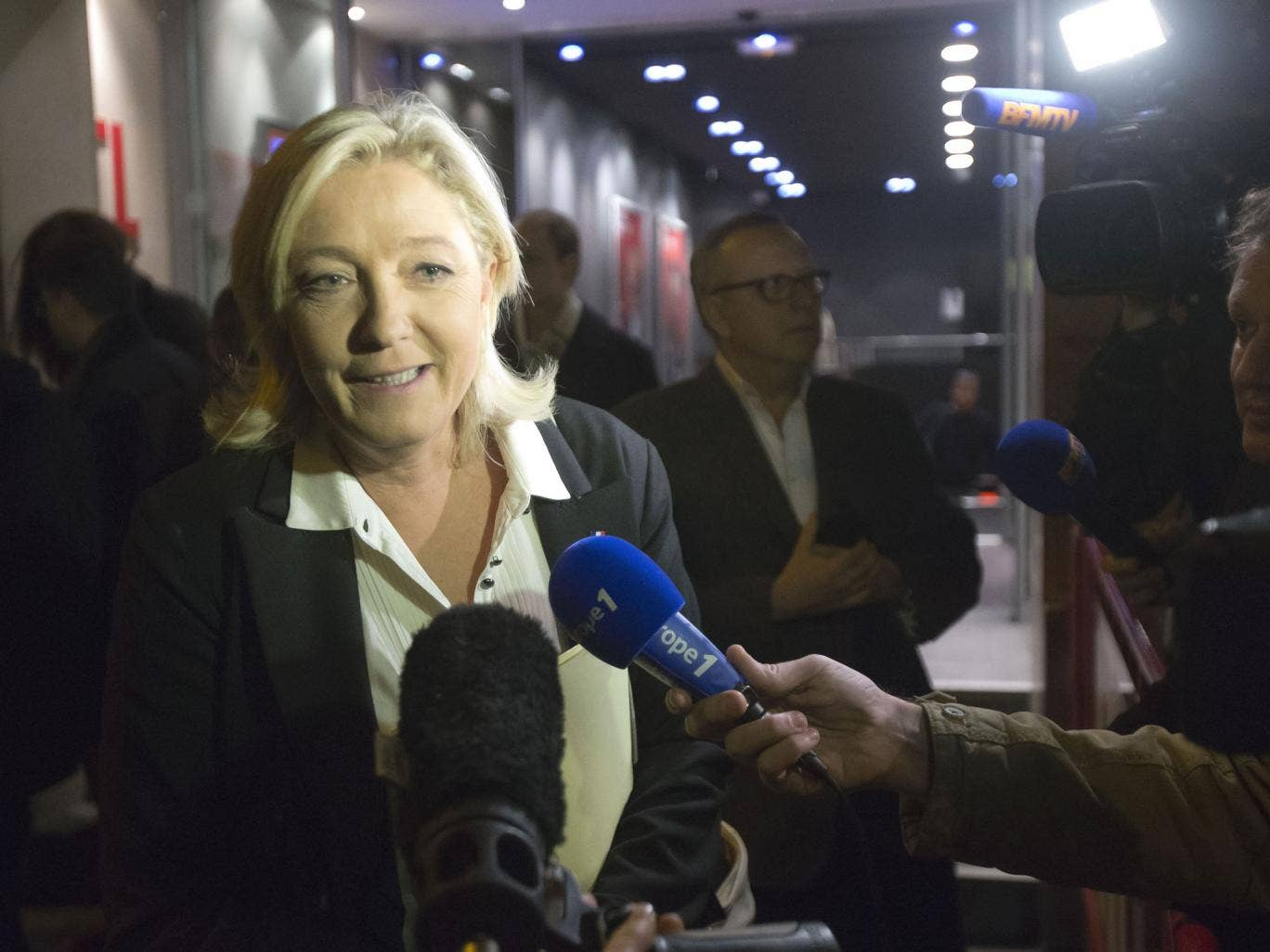 Marine Le Pen comments last night on her party's success