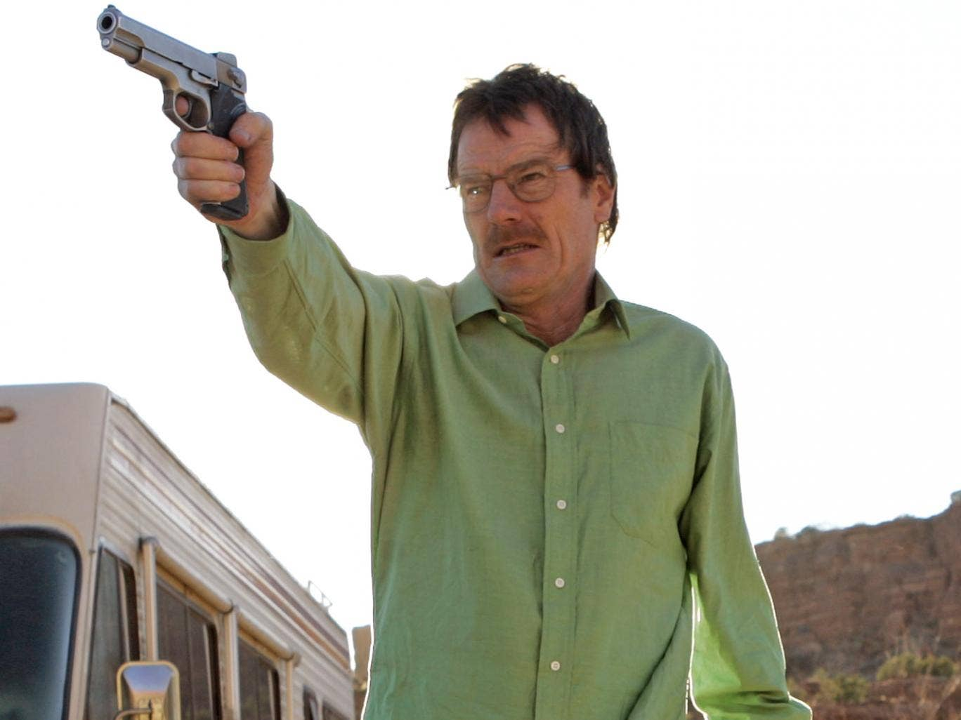 Bryan Cranston as Walter White, in the acclaimed series 'Breaking Bad'