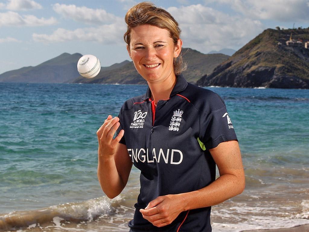 England's captain Charlotte Edwards