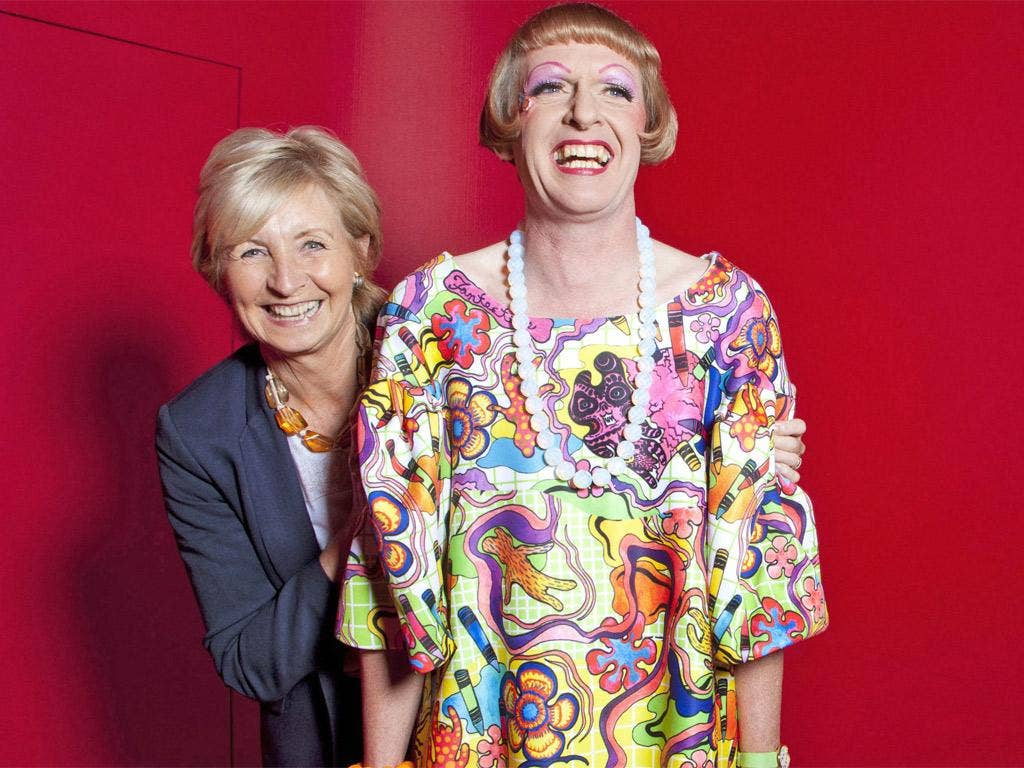 All dressed up: Sue Lawley and Grayson Perry